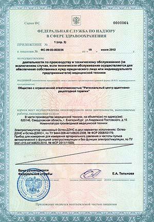 Лицензия Росздравнадзора